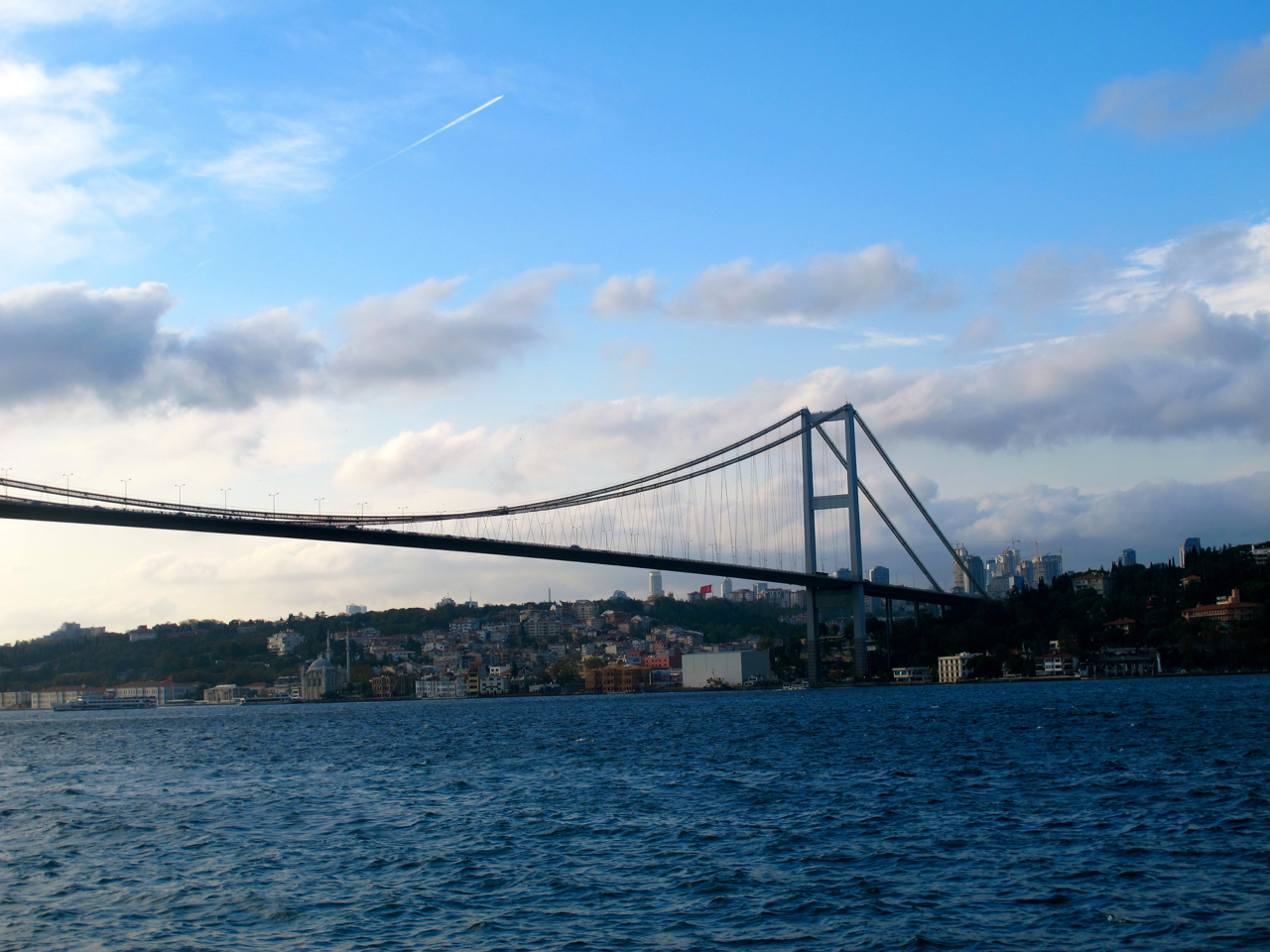 One the two bridges over Bosphorus