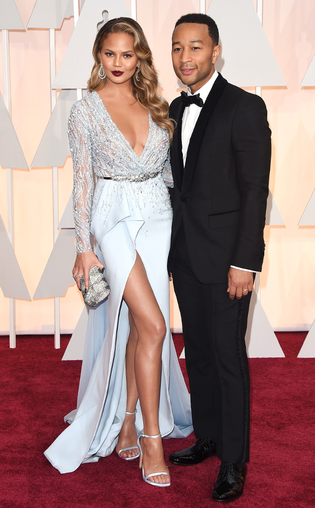 Chrissy Teigen. Uhm... Let's say John Legend looked more fun on her tonight.