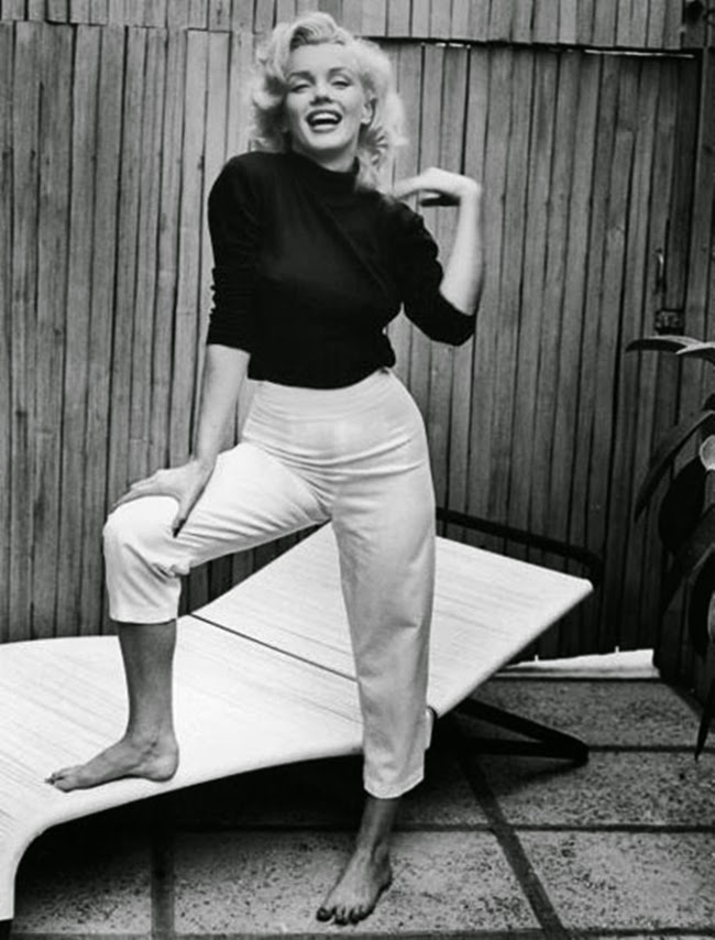 Marilyn Monroe in Capri pants.
